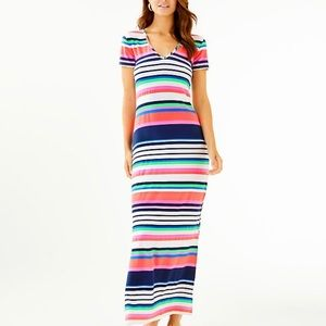 NWT!🌴 LILLY PULITZER Milana Dress Sunshine Stripe